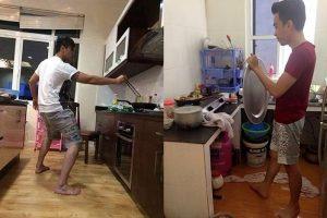 Mâm là thứ được nhiều chàng sử dụng để làm lá chắn khi phải vào bếp làm món liên quan đến rán.