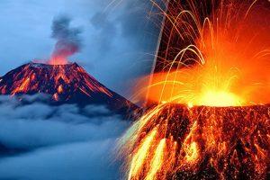 mơ thấy núi lửa