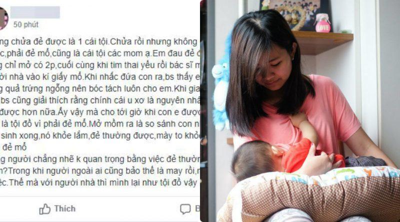 Người mẹ trẻ bị nhà chồng đay nghiến khi sinh mổ