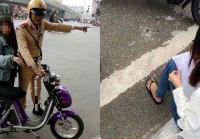 Đi xe đạp, vượt đèn đỏ để tán tỉnh anh CSGT và cái kết bất ngờ dành cho cô gái