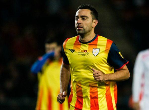 Xavi, Pique thi đấu cho tuyển Catalonia