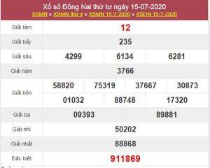 Dự đoán XSDNA 22/7/2020 chốt KQXS Đồng Nai thứ 4