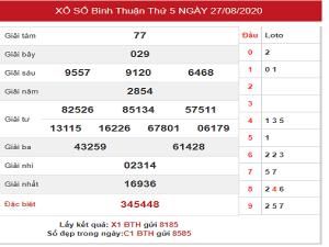 Tổng hợp kqxs bình thuận chốt dự đoán kết quả ngày 03/09/2020
