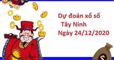 Dự đoán xổ số Tây Ninh 24-12-2020