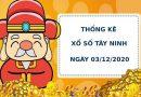 Thống kê soi cầu kết quả XS Tây Ninh ngày 03/12/2020