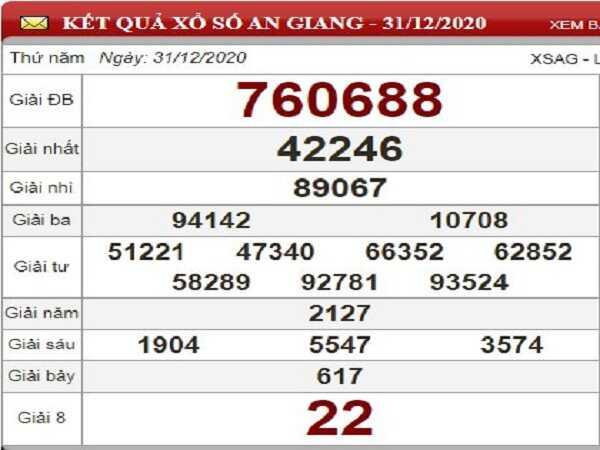 Dự đoán KQXSAG ngày 07/01/2021- xổ số an giang chuẩn xác