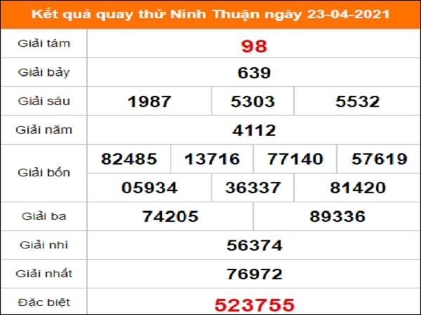 Quay thử xổ số Ninh Thuận ngày 23/4/2021
