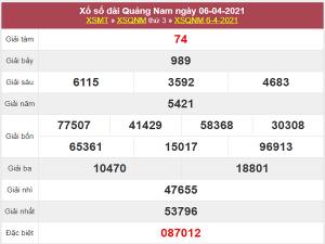 Thống kê xổ số Quảng Nam 13/4/2021